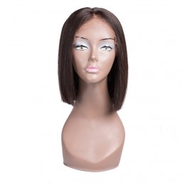 Beautyforever Lace Front Middle Part Short Bob Wigs Human Hair