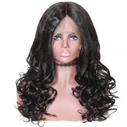 360 Lace Frontal Long Natural Wave 150% Density Human Hair Wigs