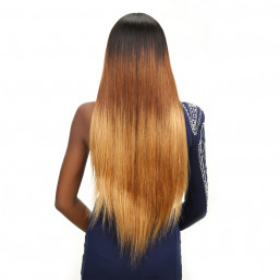 Ombre long straight wave wigs