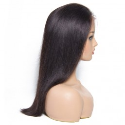 Beautyforever Best Quality Long Lace Front Straight Black Human Hair Wigs