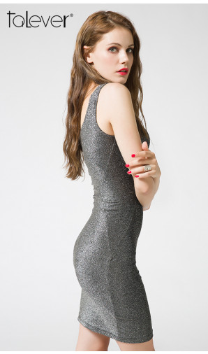Talever Summer Sleeveless Sexy Mini Bodycon Tank Dress