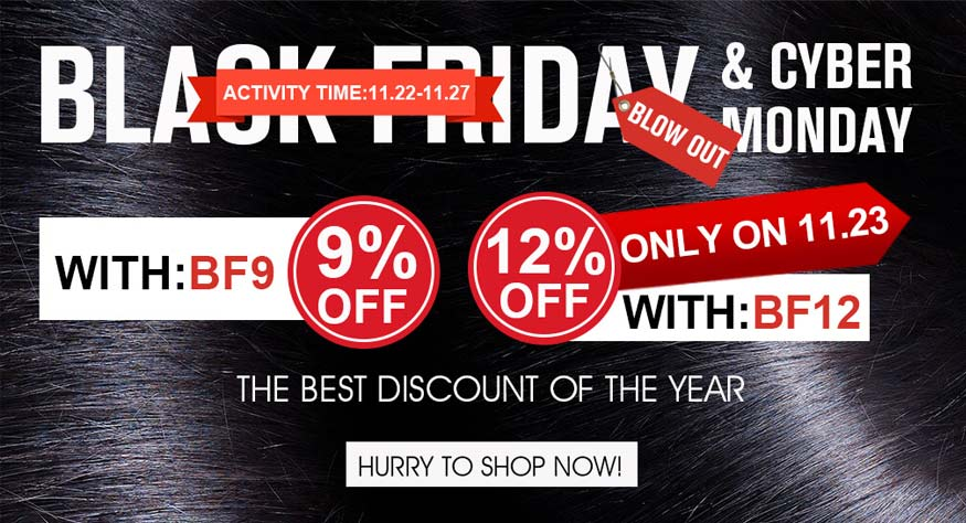 Black Friday & Cyber Monday Hair Wig Sale