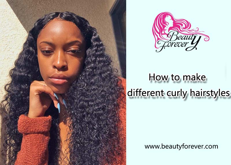 How to make different curly hairstyles