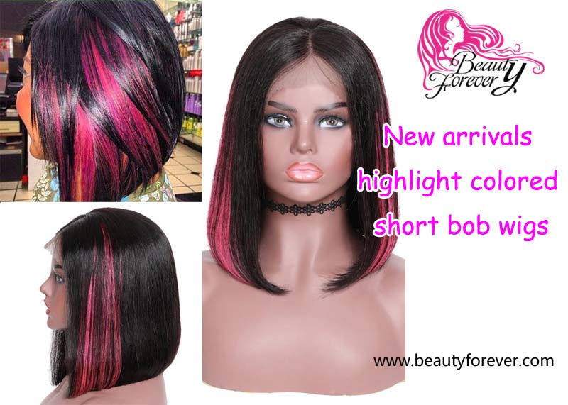 New arrivals highlight colored short bob wigs in beauty forever hair