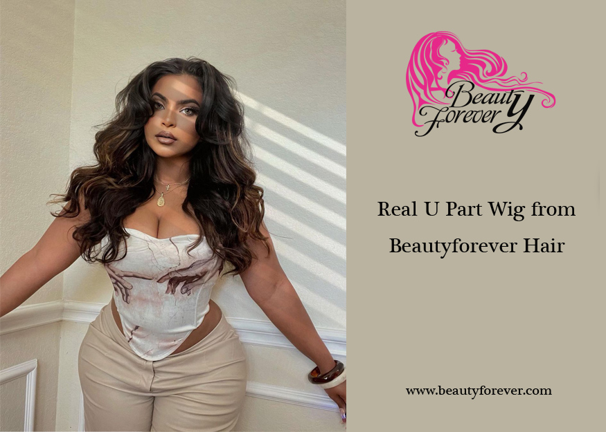 Real U Part Wig from Beautyforever Hair