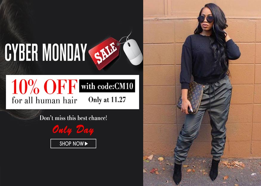 Virgin Hair Bundles With Frontal Cyber Monday Sale