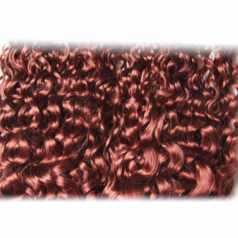 Color 33 Curly Indian Human Hair