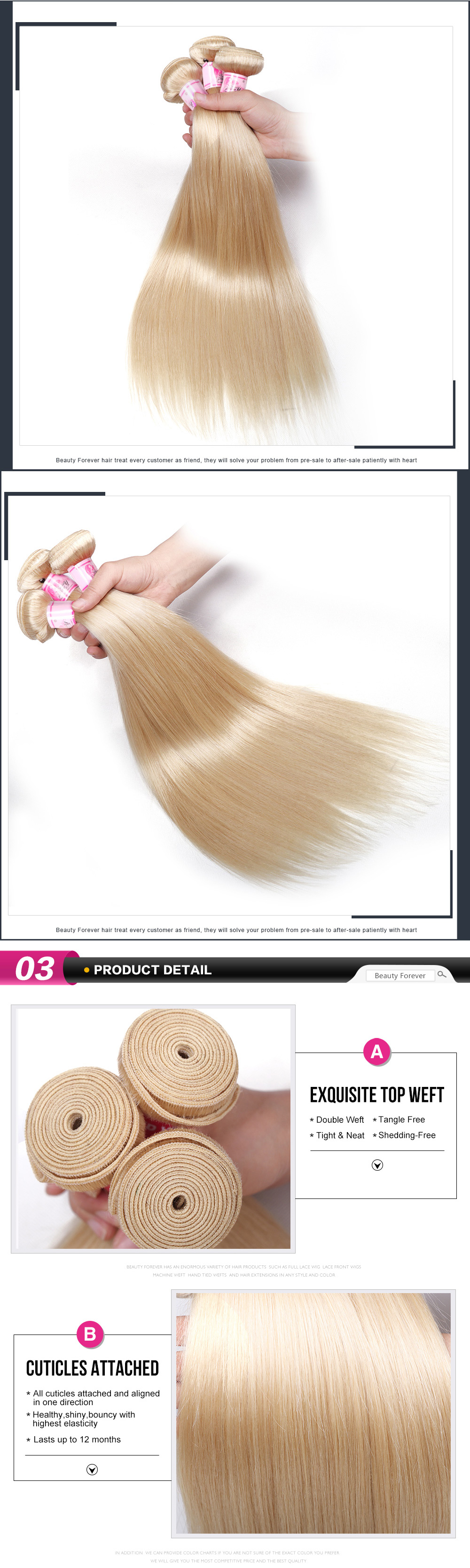 613 blonde hair bundles