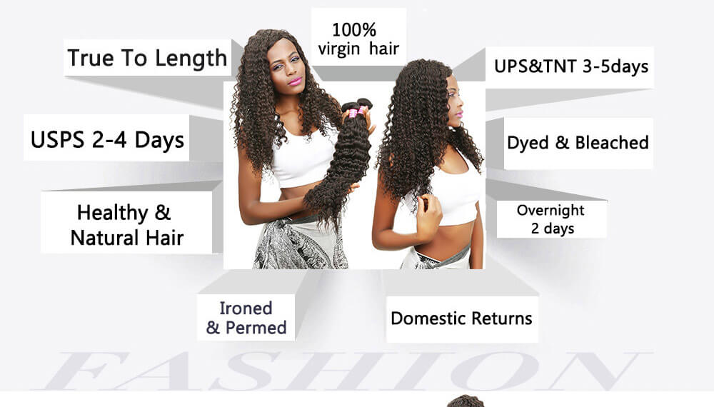 Deep Wave Brazilian Hair 4Bundles