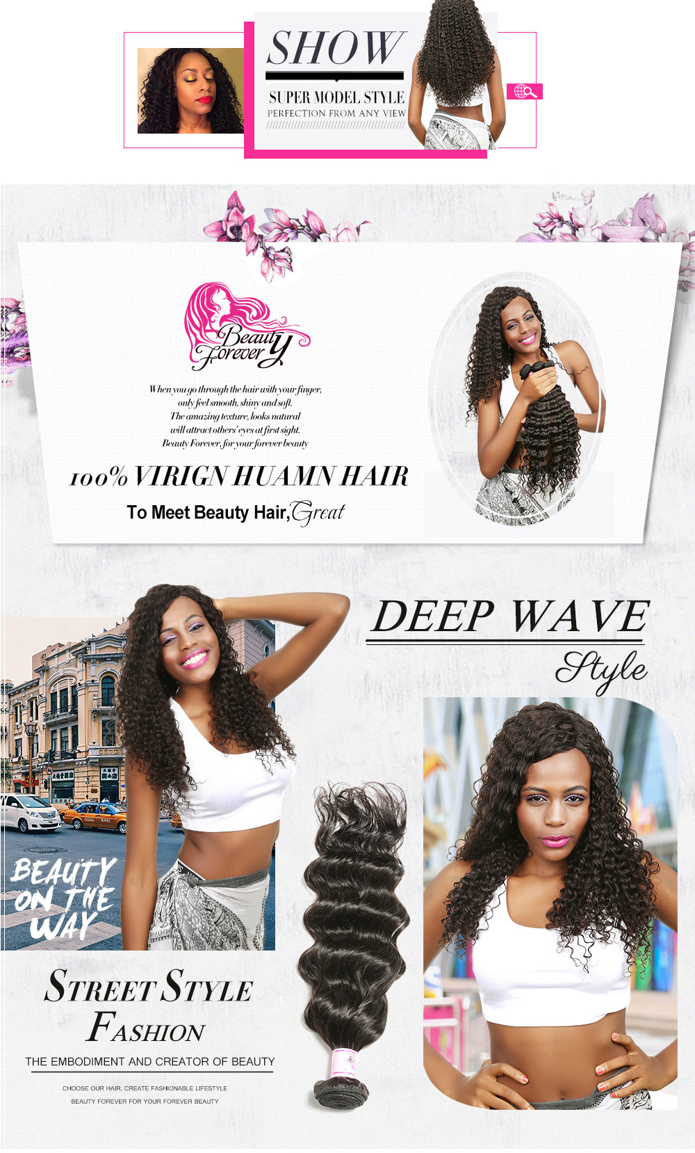 Wet And Wavy Indian Hair 4Bundles