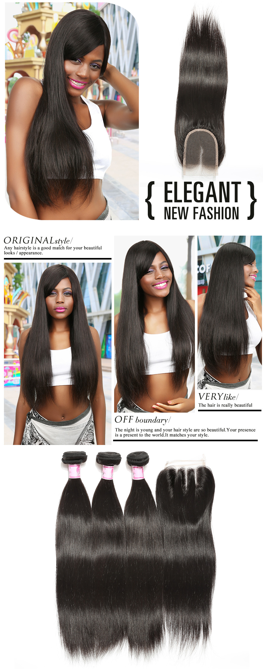 straight lace closure 100% virgin human hair