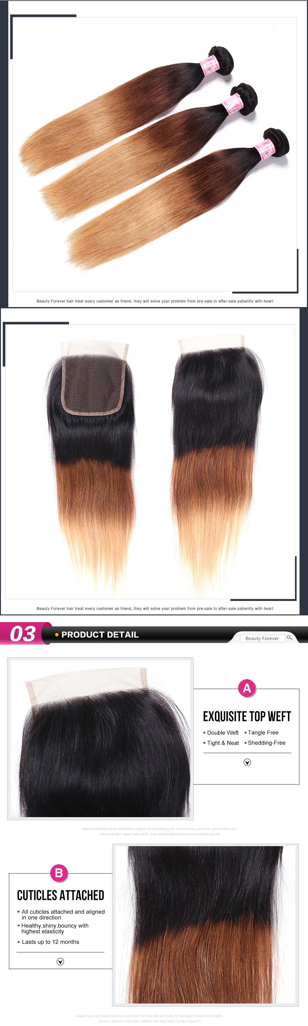 Straight Hair 3Bundles With Closure