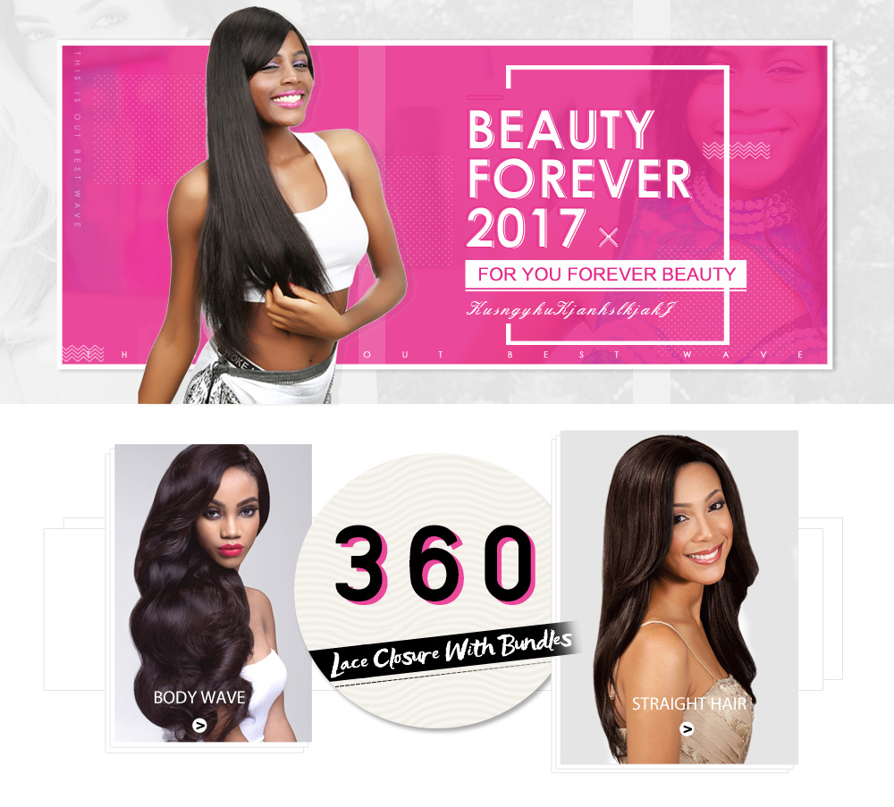 360 Closure With 4Bundles