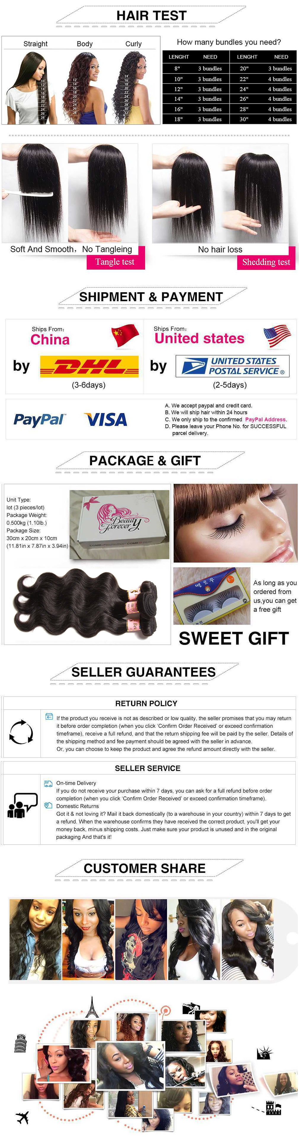 Virgin Human Hair bundles