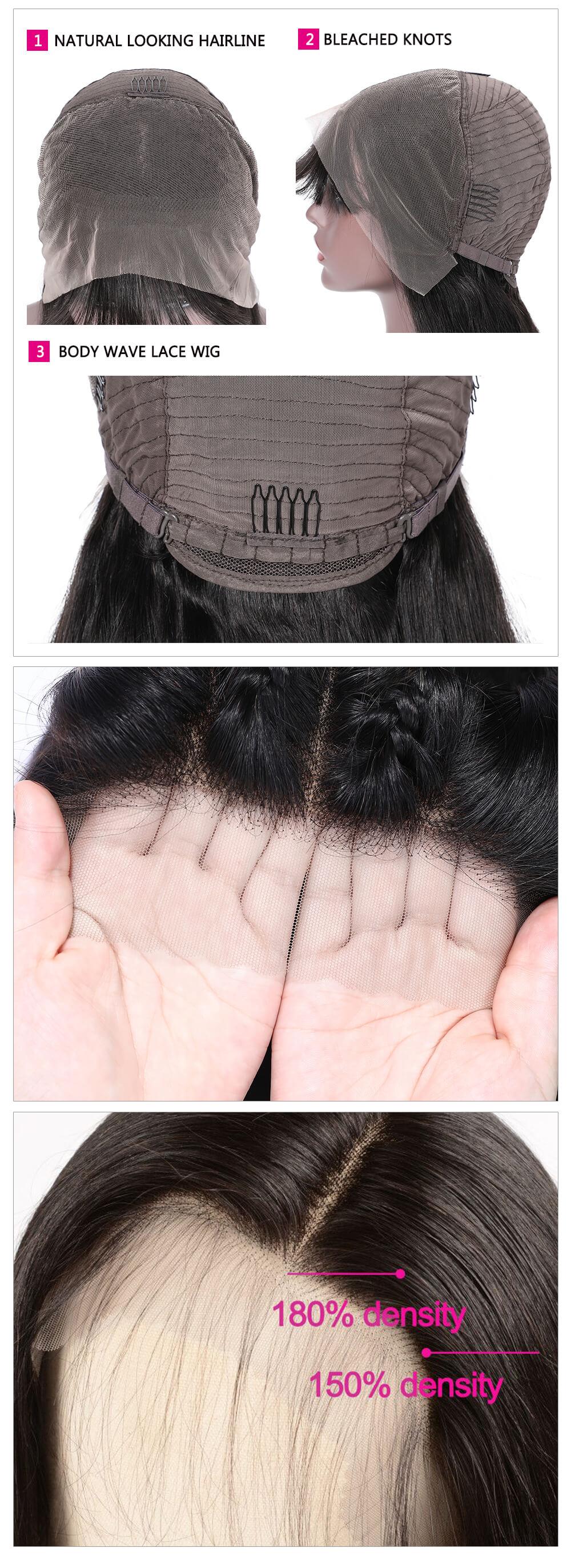 Transparent body wig