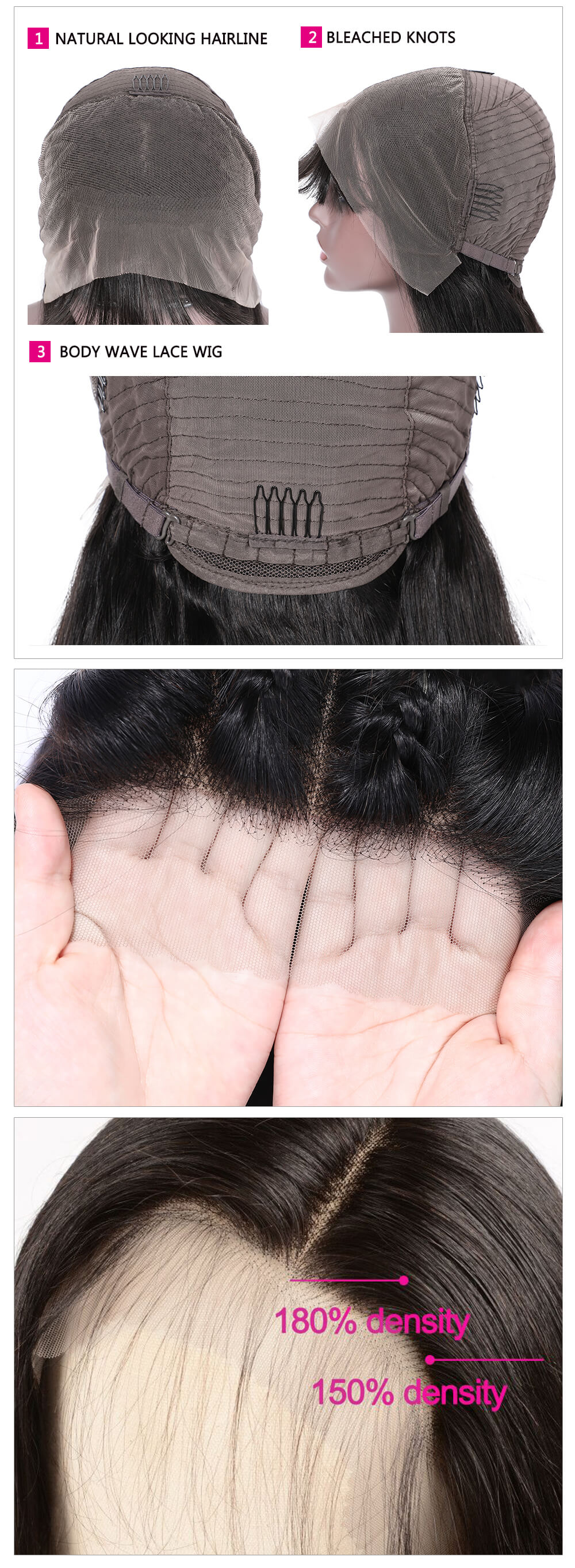 Transparent straight wig