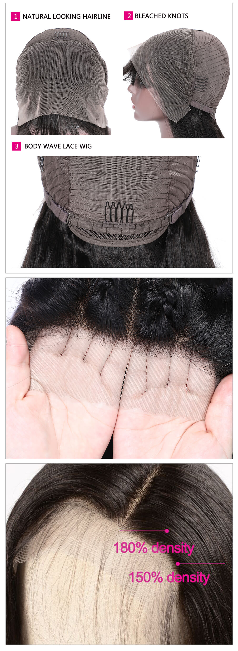 Transparent body wig