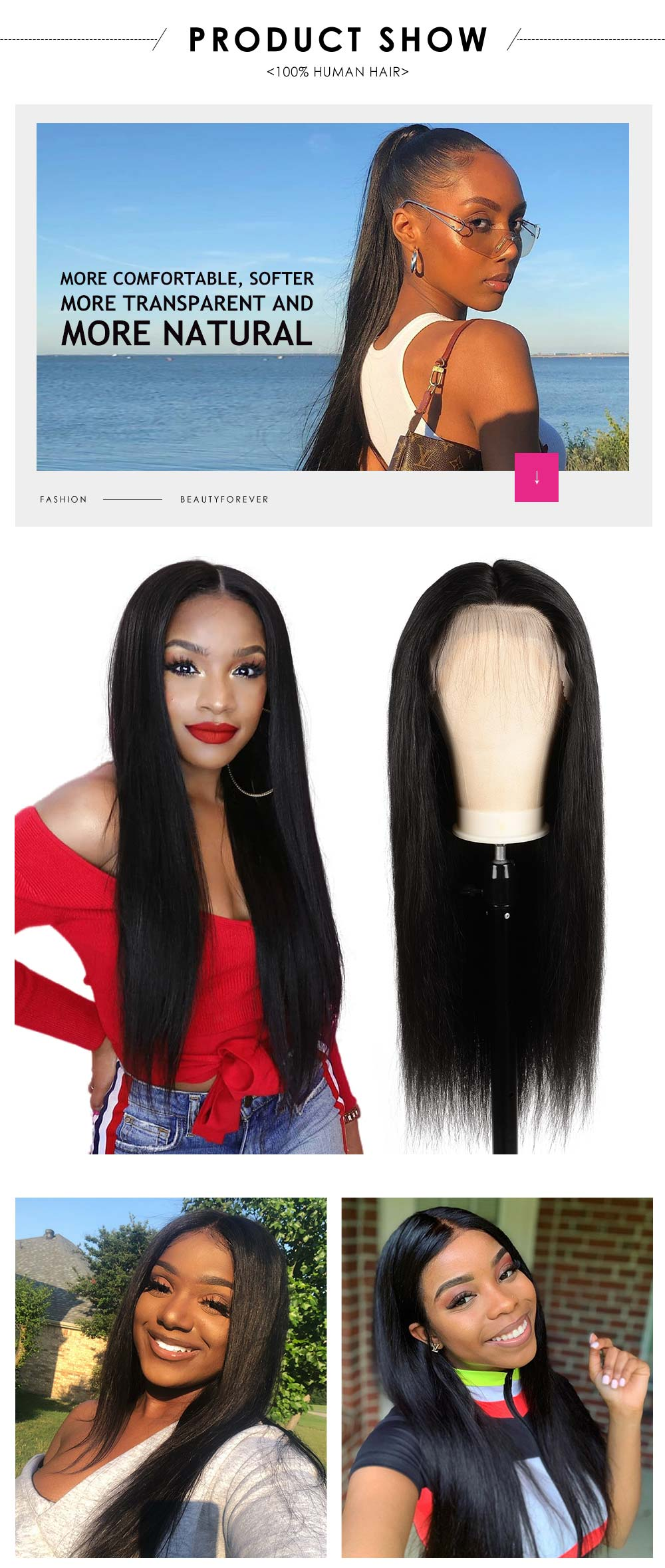 HD straight lace wig