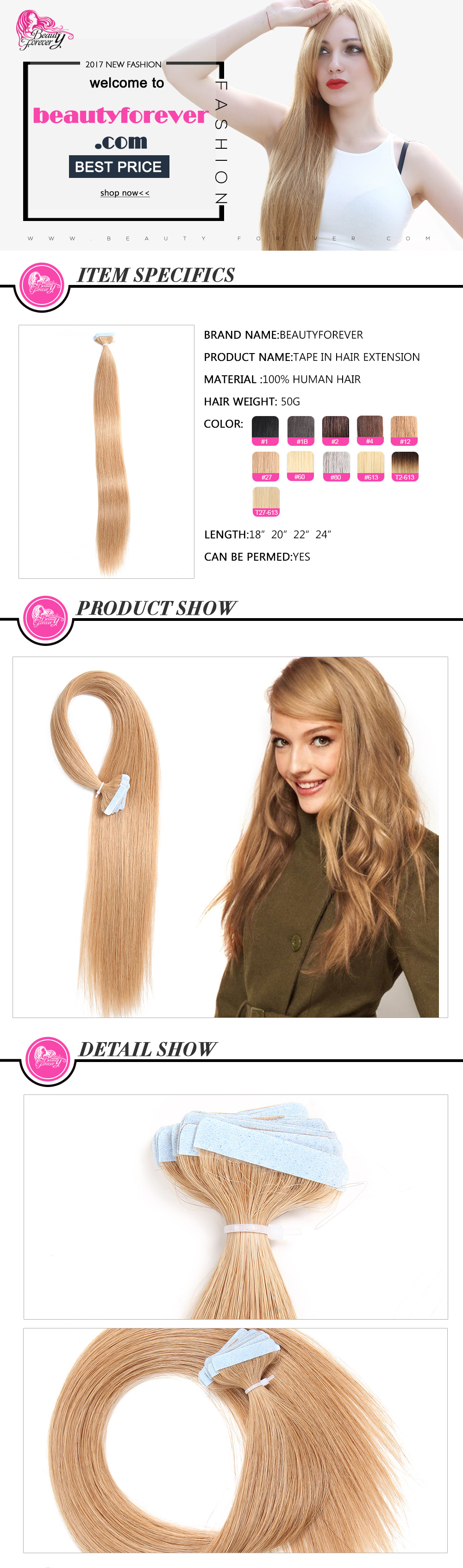 Pu Tape Hair Extensions
