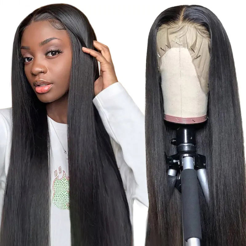 13x6 transparent lace front wigs straight hair