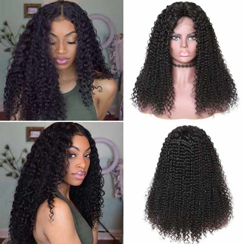 Beautyforever 13x6 Lace Front Long Jerry Curly 150% Density Human Hair Wigs On Sale