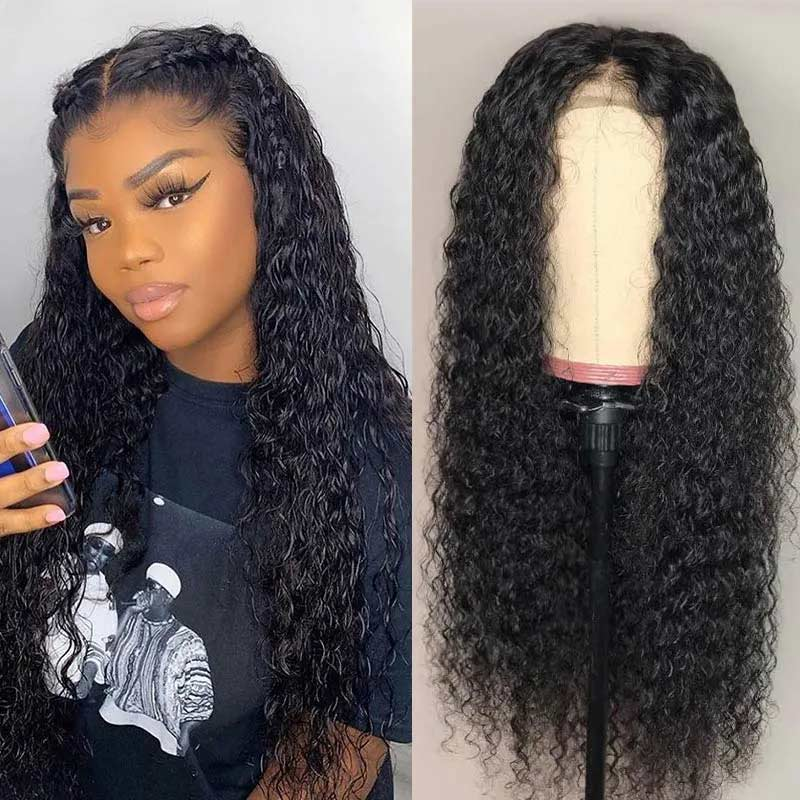 Jerry Curly Human Hair Lace Front Wig