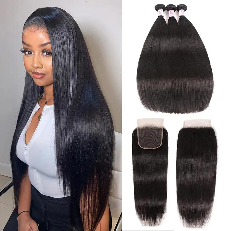 Straight Lace Closure with bundles