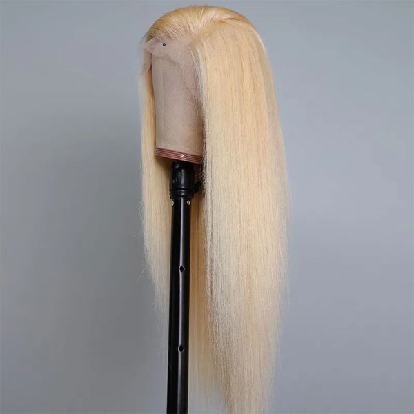 blonde full lace wig straight wave