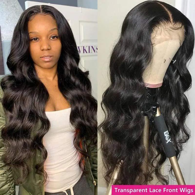 body wave transparent lace wig