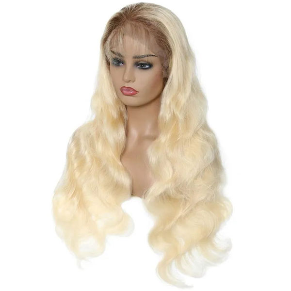 blonde full lace wig body wave