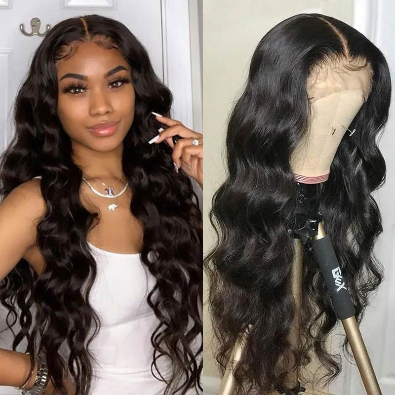 body wave lace front wigs with baby hair