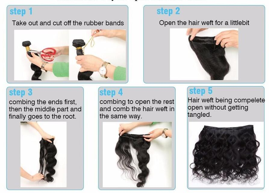open the hair weft