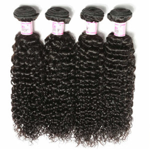 Beautyforever Malaysian Jerry Curly Human Hair 3Bundles Weft Natural Color