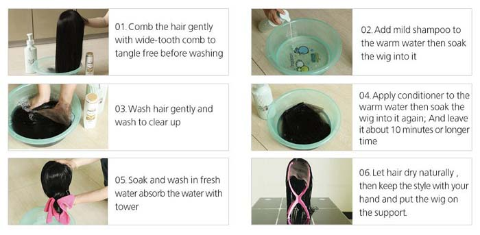 how to wash your bob wig