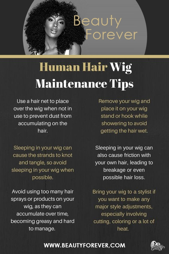 human hair wigs maintenance tips