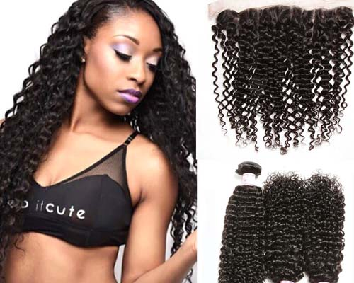 human hair curly lace front wigs