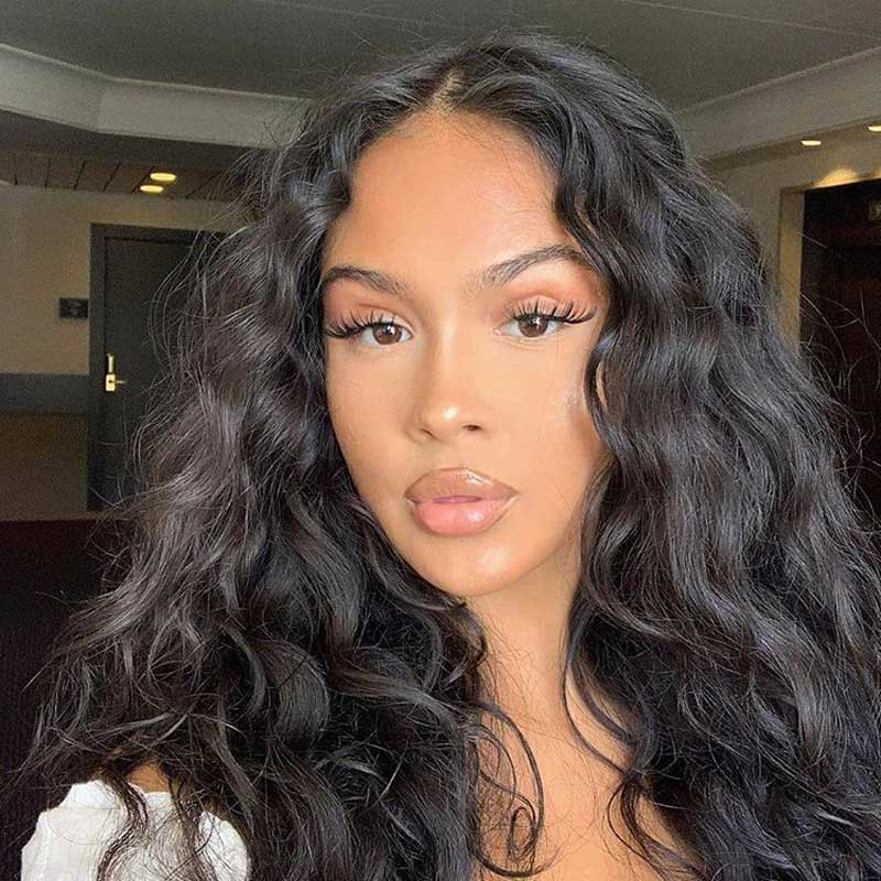 curly hair lace front human hair wigs