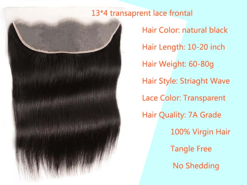 features of transparent lace frontal