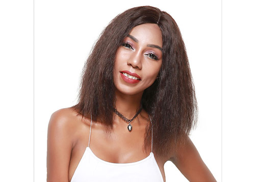 long curly human hair wig