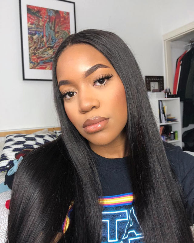 straight hair 360 lace wig