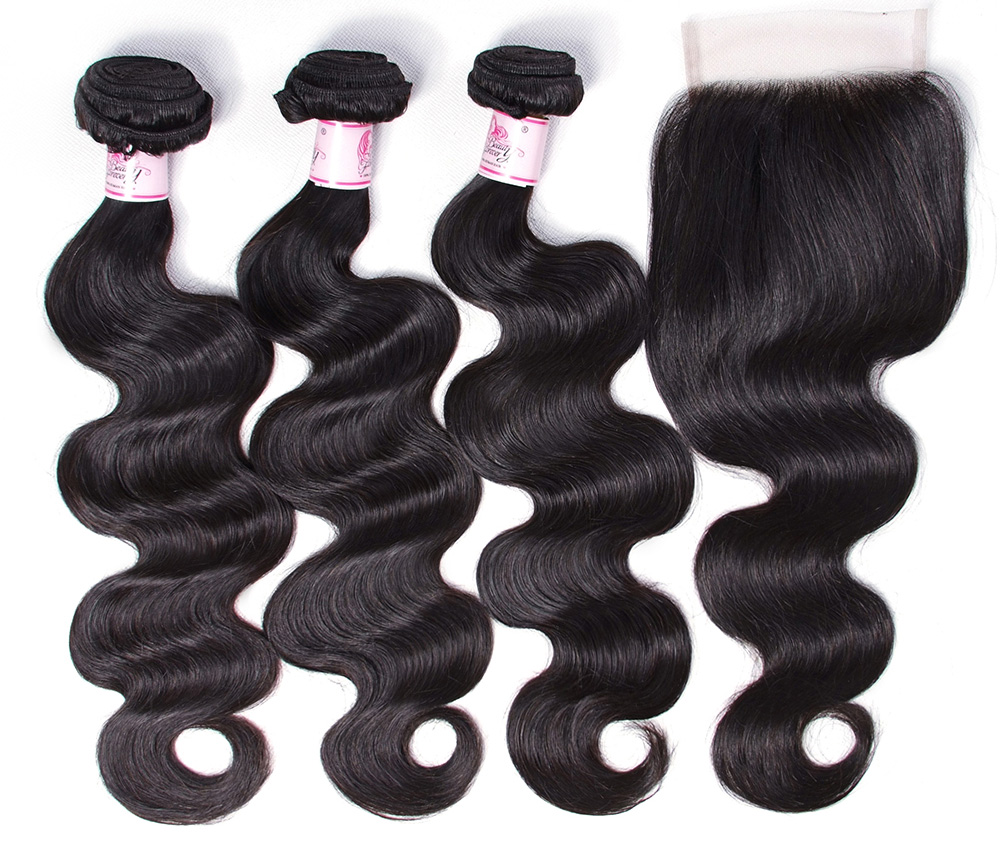 hair body weave lace closure