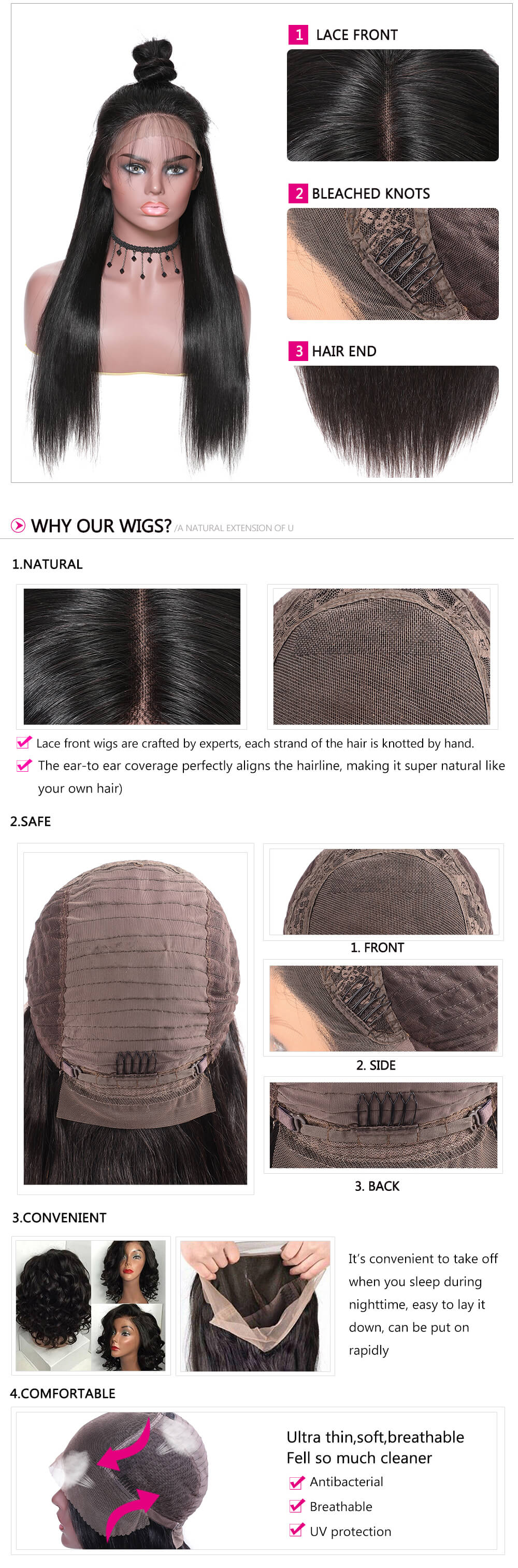 4x4 lace frontal wig