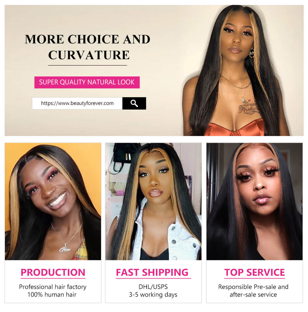long lace front human hair wigs Straight hair