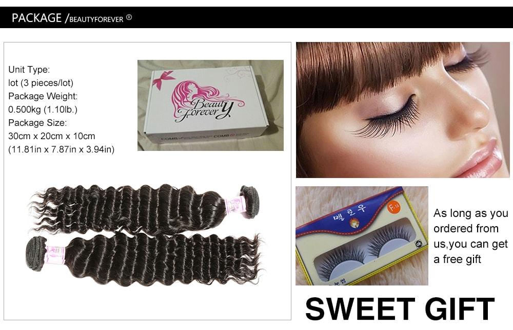 Deep Wave Hair Weave 3Bundles