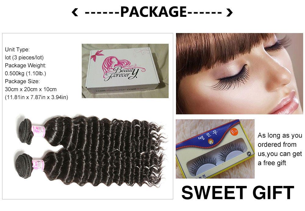 Malaysian Deep Wave Hair 3bundles