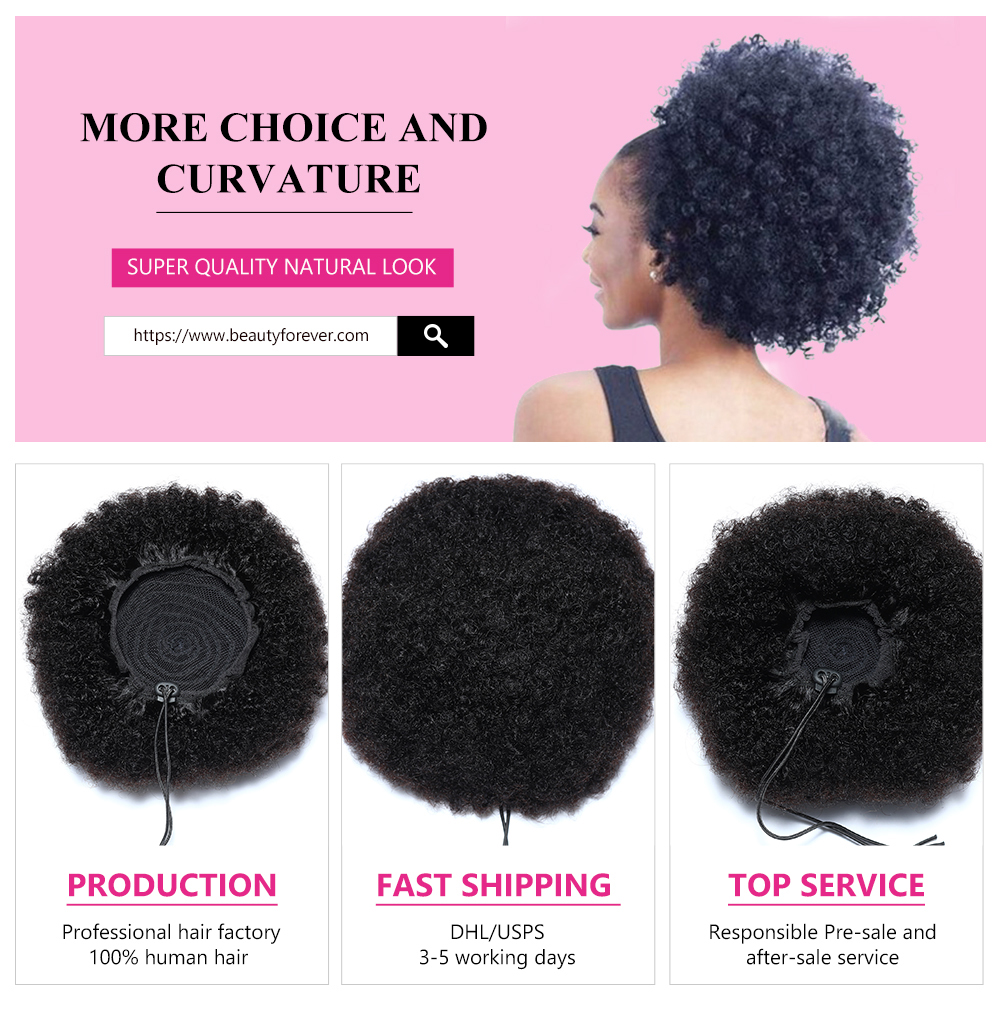 Short Curly Afro Wigs Natural Color