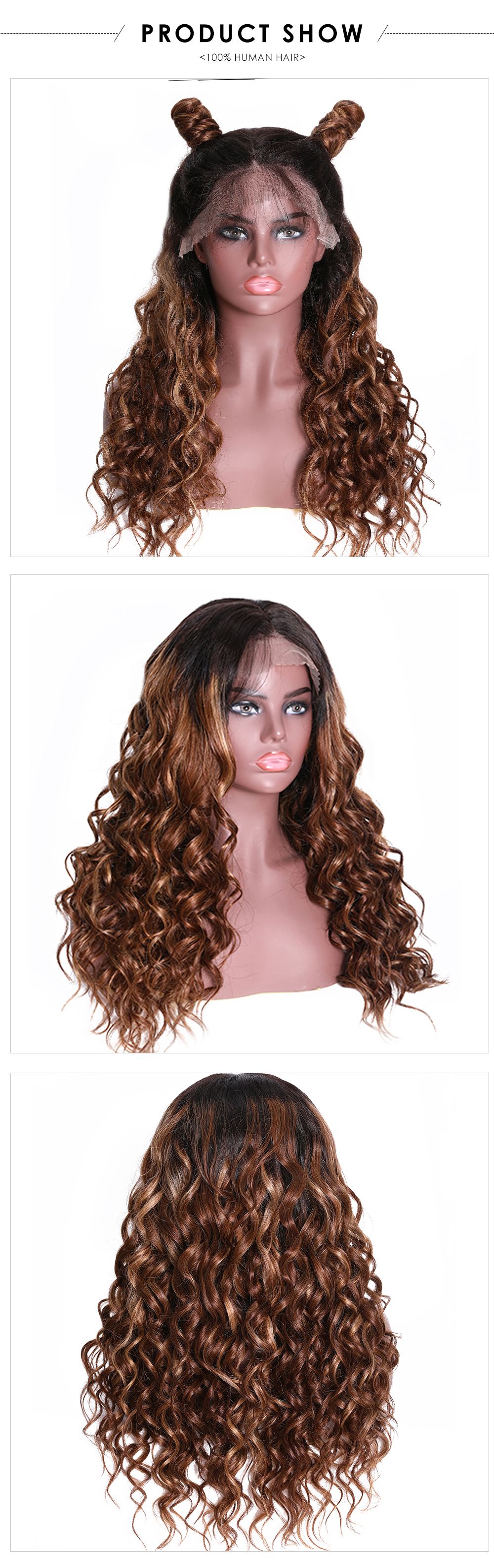 Lace Front Wigs T4/27 Color