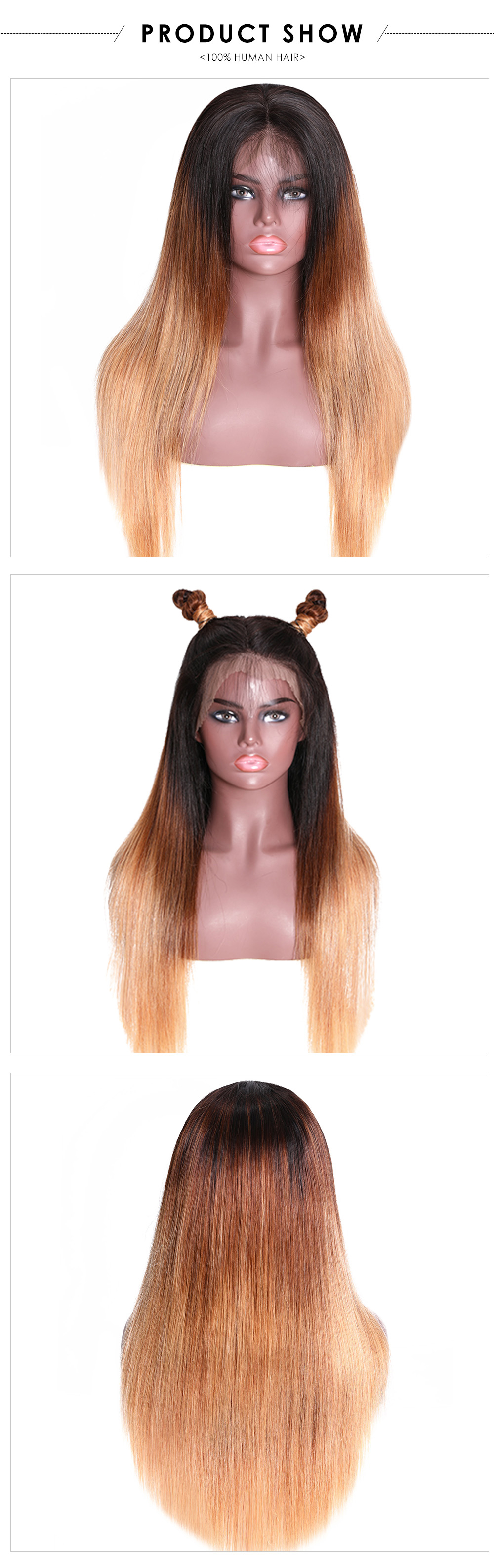 T4/27 Ombre Hair Color Wigs