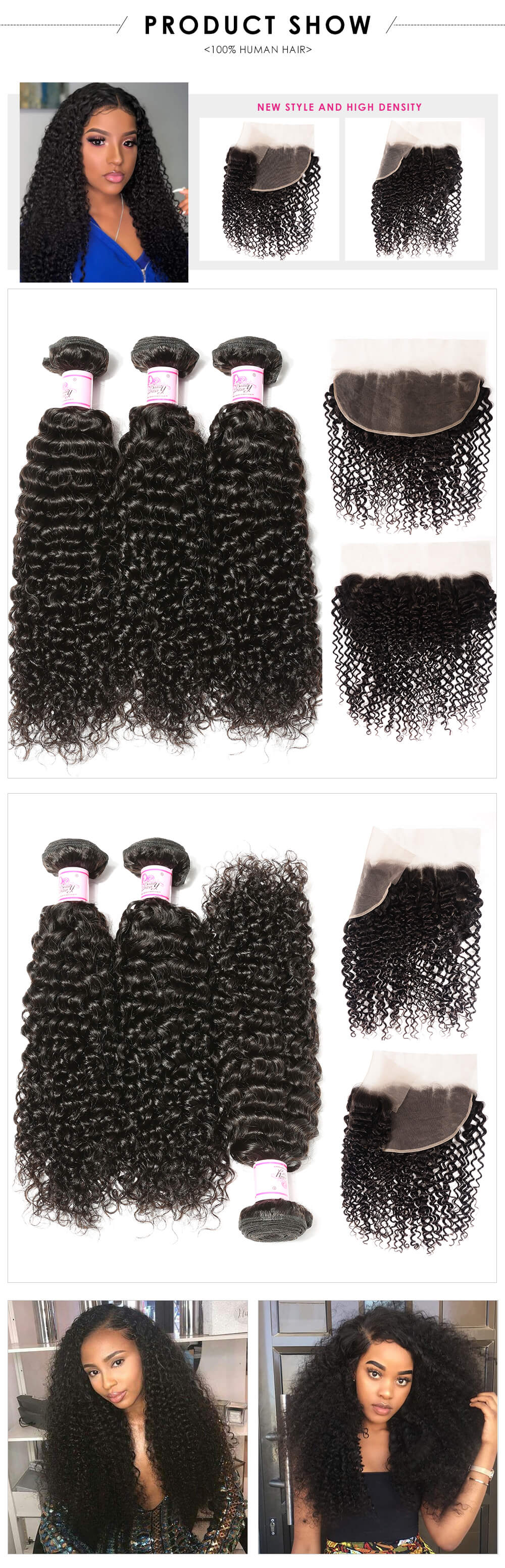jerry curly 3bundles with closure