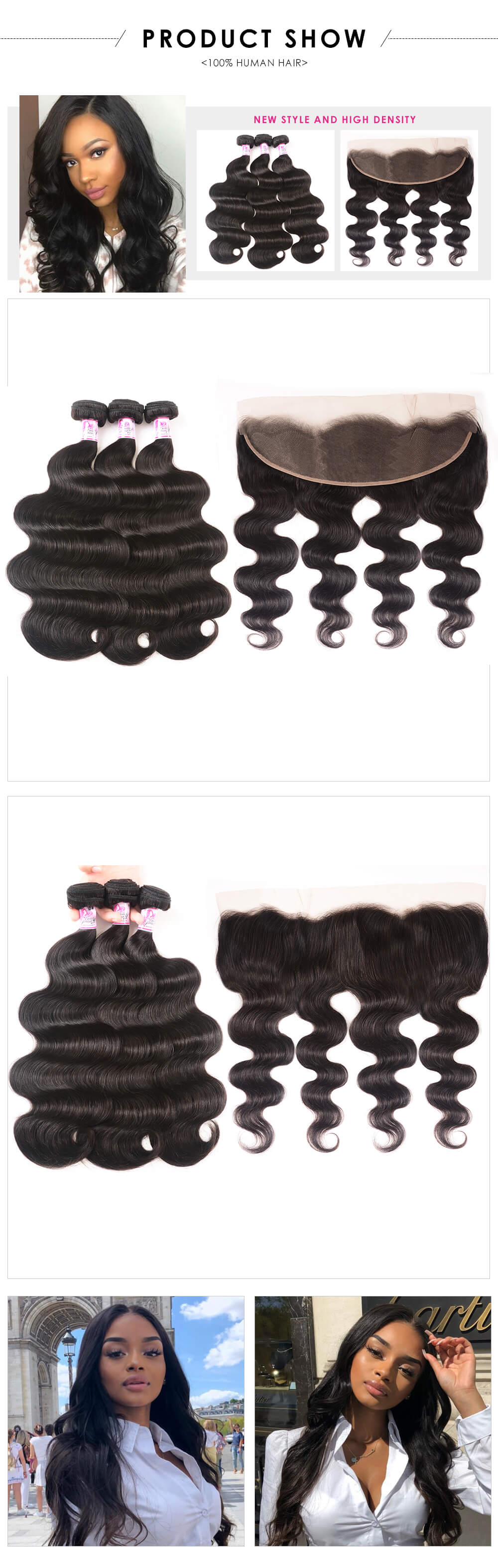 3bundles with body wave 13x4 lace closure